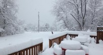 This deck in Romney had 13.5 inches of snow Wednesday.