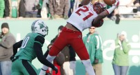 Western Kentucky Hilltoppers wide receiver Jared Dangerfield (21) catches a touchdown pass in over time against the Marshall Thundering Herd at Joan C. Edwards Stadium.