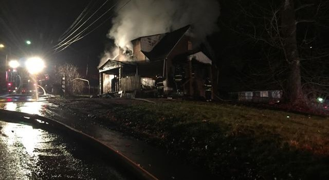 Blaze broke out about 4:30 this morning on Violet Street in Charleston