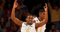 Juwan Staten celebrates a second-half basket against N.C. State.
