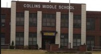 The main building at Collins Middle School in Oak Hill was closed in January 2015 because of structural problems.