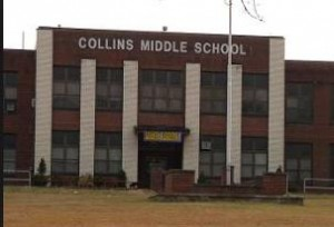 The main building at Collins Middle School in Oak Hill was closed in January because of structural problems.