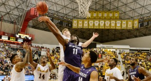Kansas State lost 69-60 at Long Beach State in November, part of a 7-7 start that the Wildcats have overcome behind the resurgence of forward Nino Williams (11).