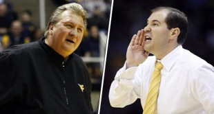 West Virginia's Bob Huggins and Baylor's Scott Drew have led their teams to surprising records this season.
