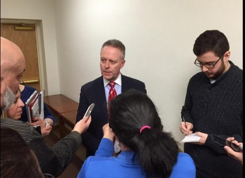 State School Superintendent Dr. Michael Martirano spoke with reporters following Friday's emergency meeting.