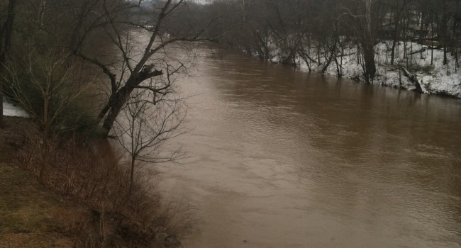 The Elk River in Kanawha County is already running high and the worst hasn't started
