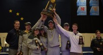 The West Virginia rifle team celebrates a third straight national title and record 17th in program history.