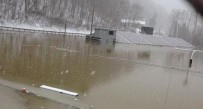 The Tug Fork River covered the Tug Valley High School football field in Naugatuck Thursday.