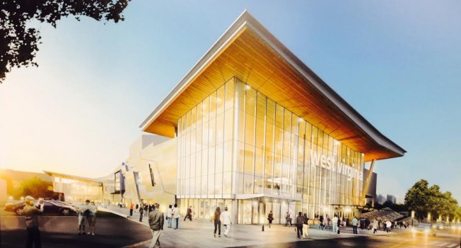 A depiction of the proposed $59-million renovation at the Charleston Civic Center.