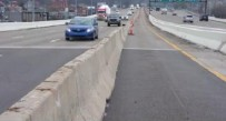 Traffic on Interstate 64 will move into this contra-flow lane for those proceeding to I-77 nortbound and I-79.