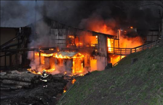 WV MetroNews Fire causes major damage in Webster sawmill - WV MetroNews