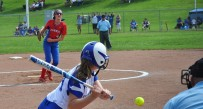 Wheeling Park's Skylar Carrington delivers a pitch against Ripley in the 2014 Class AAA state softball tournament.