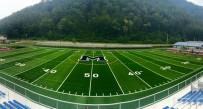 A look at the new turf installed at Man High School prior to the upcoming football season.