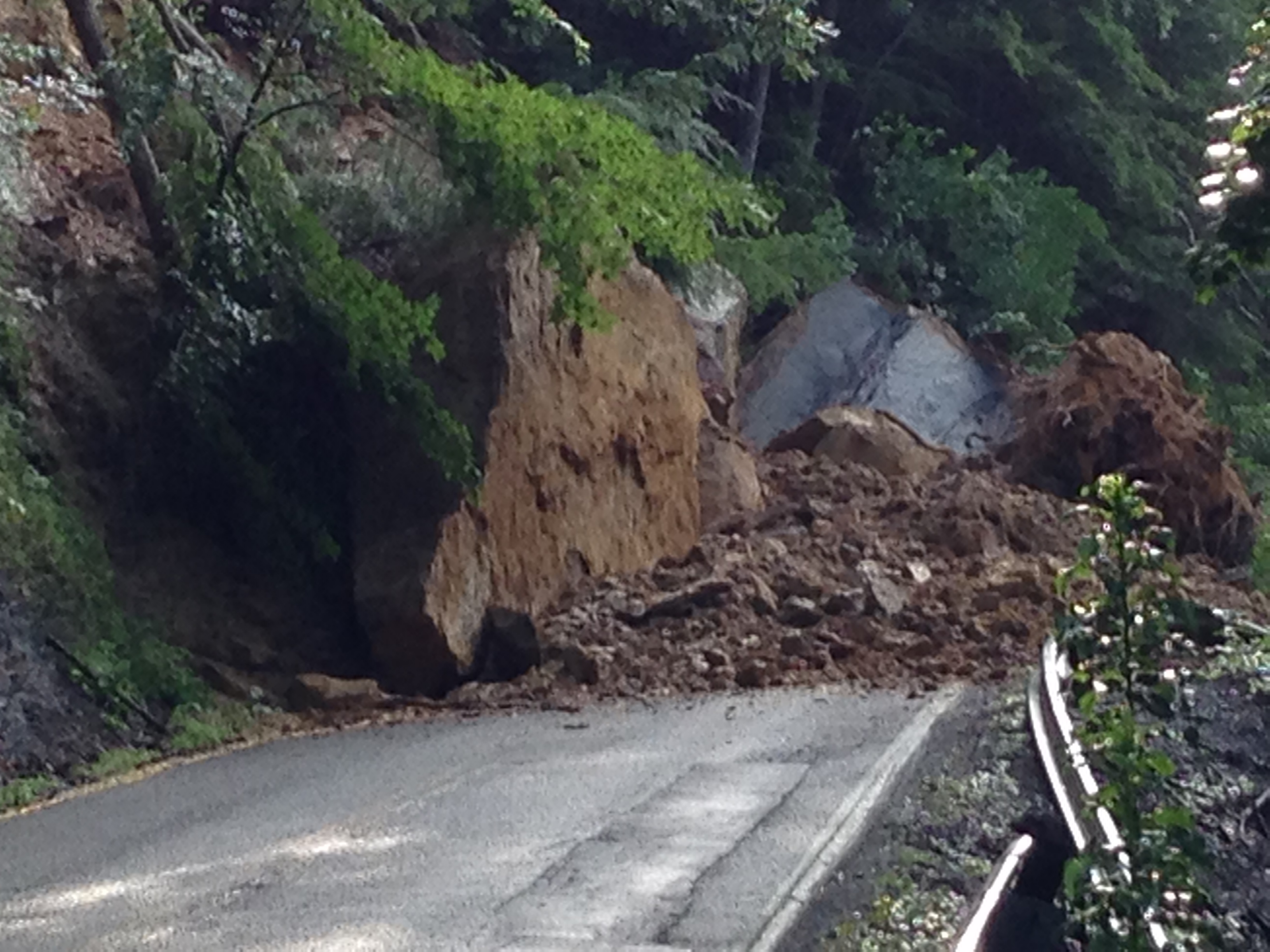 Wv Metronews Rock Slide Cleared Birch River Road Reopens