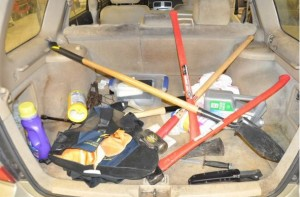 This is what police say in plain view in Falls vehicle.