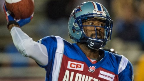 Rakeem Cato threw for 241 yards and three touchdowns in his professional debut for the Montreal Alouettes.