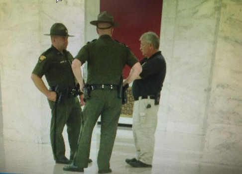 There was additional security at the state capitol Thursday--the day Deegan's alleged overthrow of state government was to take place.