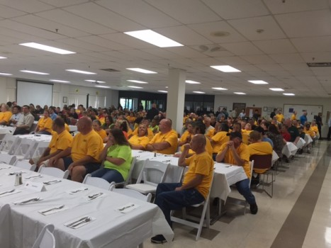 NGK associates attended the luncheon celebration at the Sissonville facility.