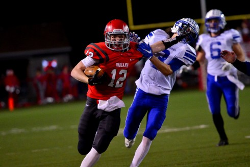Bridgeport quarterback Zack Spurlock (12) runs for touchdown against Fairmont Senior.