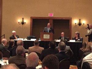 Gov. Tomblin addresses the crowd attending the summit Tuesday