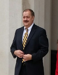 Don Blankenship left the federal courthouse Tuesday. His fate now in the hands of a jury.