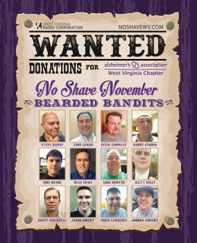 The No Shave November Promotion includes 12 radio personalities who have agreed not to shave during this month.