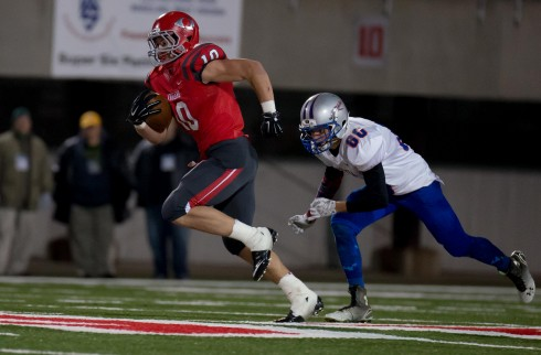Bridgeport's Dylan Tonkery scored on touchdown runs of 64 and 63 yards.