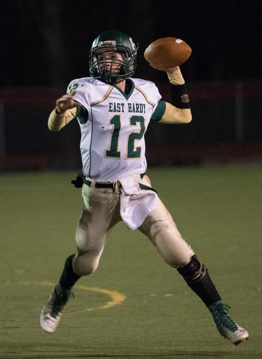 East Hardy junior quarterback Corey McDonald has over 4,000 yards of total offense on the season.