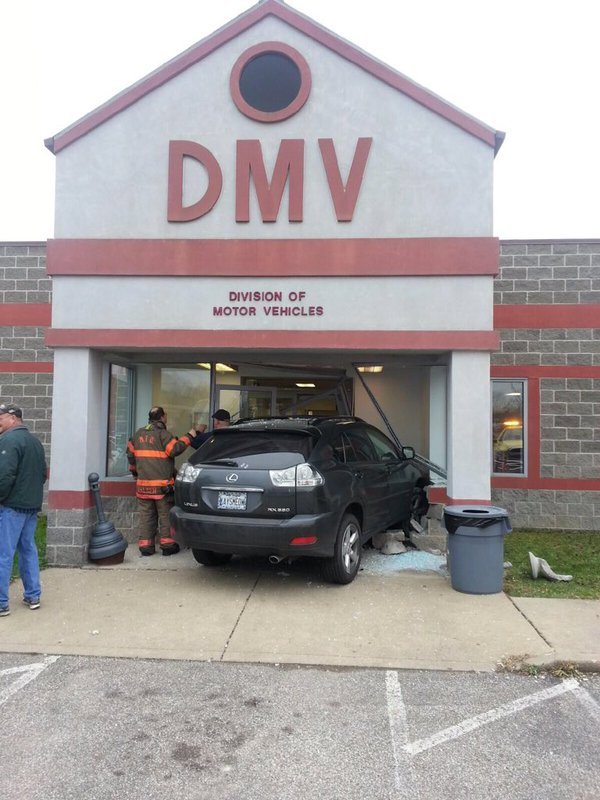 Wv metronews moundsville dmv regional office damaged for Wv dept motor vehicles charleston