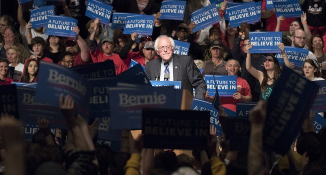 Presidential hopeful Bernie Sanders visited Morgantown for an evening rally ahead of Tuesday's state primary election.