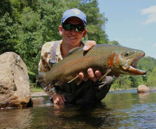 Wv metronews wvu fly fishing club pays it forward for Trout fishing in wv