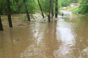 Heavy rain lead to high water in parts of southern West Virginia to start the month of May.