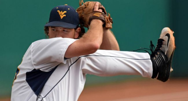 West Virginia's Ross Vance pitched 8 2/3 innings relief against Oklahoma during Wednesday's Big 12 tournament in Oklahoma City.