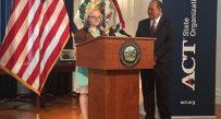 Shaina Clack, a senior at Mount View High School in McDowell County, won the Student Readiness Award Tuesday.