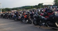 Hundreds of bikers arrived for the night in Hurricane.