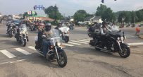 Bikers arrived at the state Capitol Thursday morning.