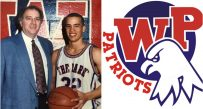 Wheeling Park coach Sam Andy (left) with 1997 state player of the year Rafael Cruz (right).