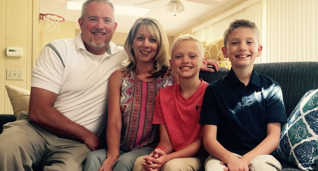 Marty and Melissa Lawhon, with their sons Brandon, 12, and Preston, 9, have felt the dramatic price hike of Mylan's EpiPen.