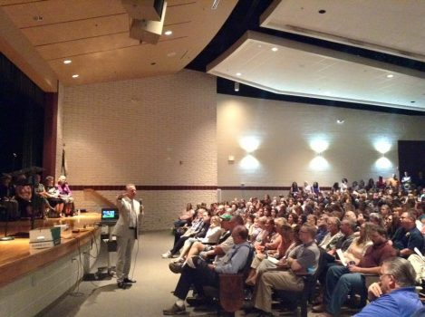 State School Superintendent Dr. Michael Martirano spoke to a large crowd of educators in Keyser this week.