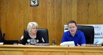 Mingo County commissioners discuss budget cuts Thursday.
