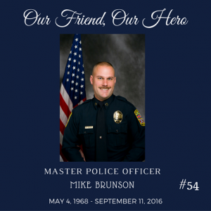 Mike Brunson was a 21-year veteran of the Winchester, Va., police force.
