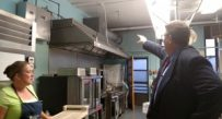 Fayette County Superintendent of Schools Terry George during a 2015 tour of school facilities in Ansted.