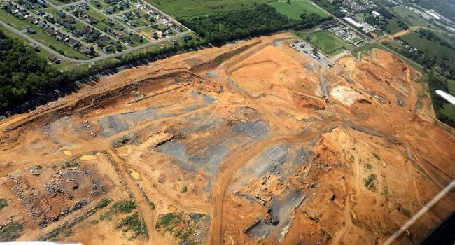 A recent flyover shows how much progress has been made on the P&G site.