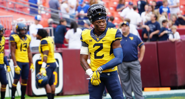 West Virginia safety Jeremy Tyler prepares for Saturday's game against BYU at FedEx Field.