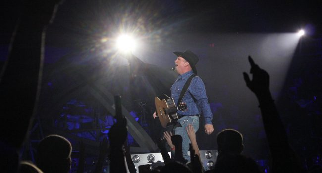 Garth Brooks performs before an enthusiastic Charleston Civic Center crowd, the first of four shows this weekend.