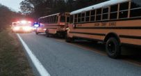 Damage was minimal and injuries minor when one bus struck another in Jackson Co.