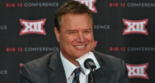Oct 25, 2016; Kansas City, MO, USA;  Kansas Jayhawks head coach Bill Self address the media during the Big 12 Basketball Media Day at the Sprint Center. Mandatory Credit: Peter G. Aiken-USA TODAY Sports