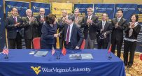 (Courtesy WVU) WVU and the Chinese company already partner in education and research initiatives.