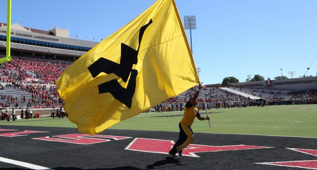 A banner day for West Virginia in Lubbock, Texas.