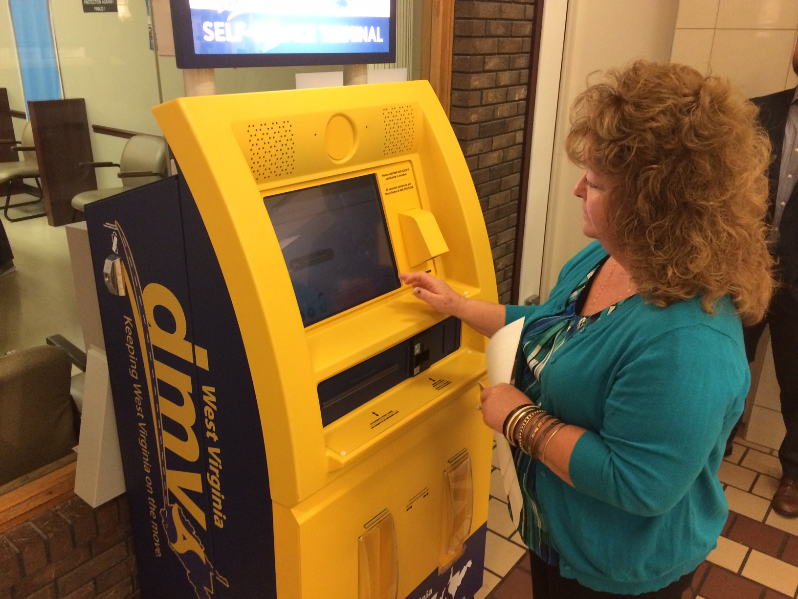Wv metronews new dmv self serve kiosks go live for Wv dept motor vehicles charleston
